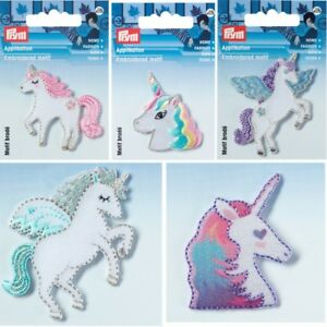 Unicorn Shimmery Embroidered Patch Iron or Sew on 4.5cm Motif Appliqué Badge