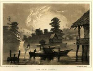 Singapore-Jurong-River-Fishing-Scene-1856-Perry-Expedition-litho-view-print