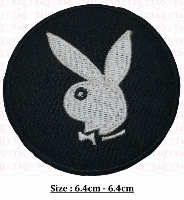 Playboy Bunny Iron On Patch Badge Logo , Pink Bunny Embroidered .Black White Red by Ebay Seller