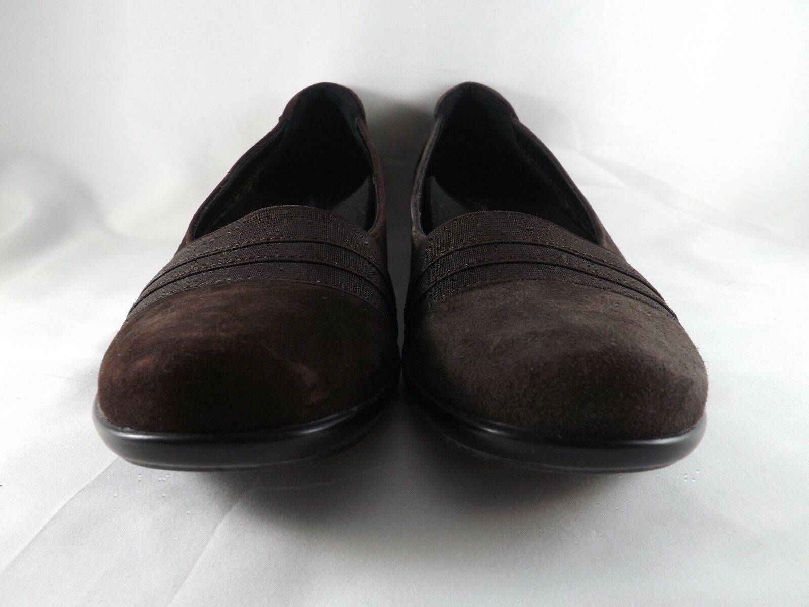 Essence by Aetrex Valerie Slip-On Braun Suede Loafer - New - Größe 7.5 B