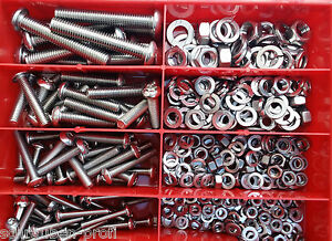 360er Box Edelstahl Innensechskant Schrauben ISO 7380 Muttern M5 Rostfrei