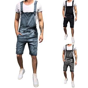 Men-039-s-Denim-Loose-Overalls-Jumpsuits-Dungarees-Pants-Slim-Skinny-Work-Trouser-LO