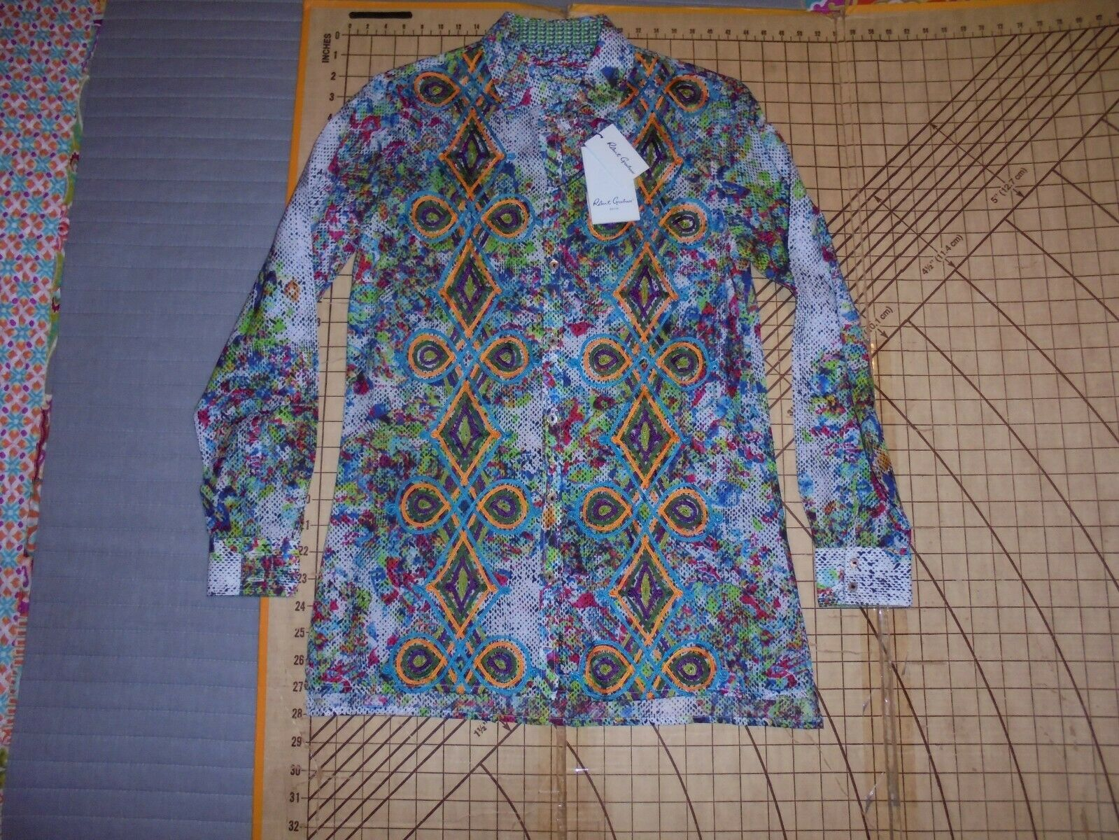 damen XSMALL ROBERT GRAHAM LTD EDITION 17 150 LONG SLEEVE BLOUSE SHIRT - NWT