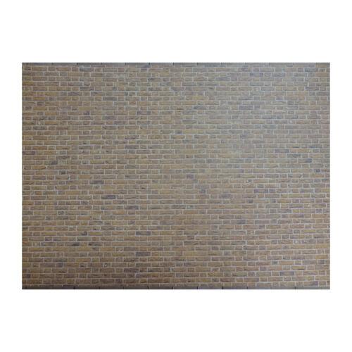 SA-Dollshouse DIY761C Tapete mit gelb//braunen Ziegelsteinen 29x42 cm 1:12 NEU!#