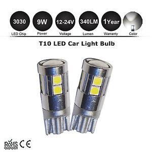 2X-9w-T10-194-W5W-3030-SMD-9-LED-Car-Side-Wedge-Light-Bulb-12V-24V-Interior-Lamp
