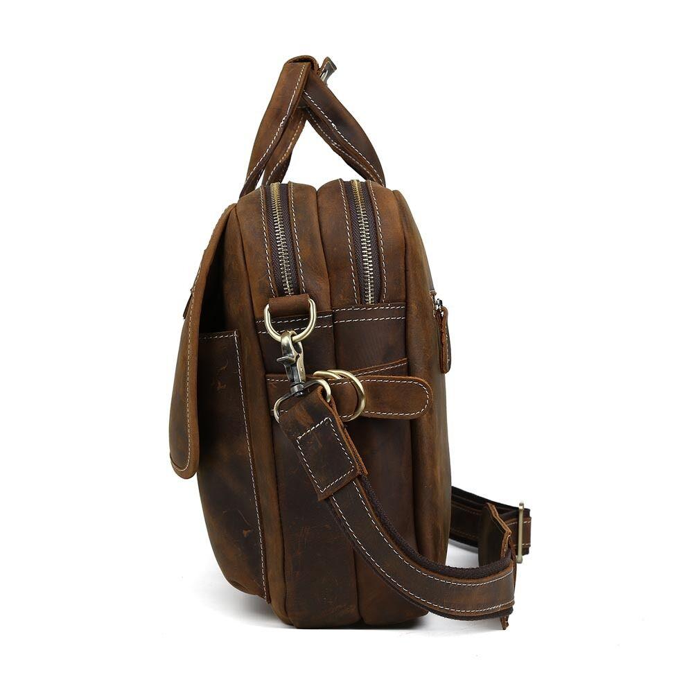 Herren Leder 14  Laptop Aktentasche Handtasche Handtasche Handtasche Messengertasche Schultertasche | ein guter Ruf in der Welt  52f2fc