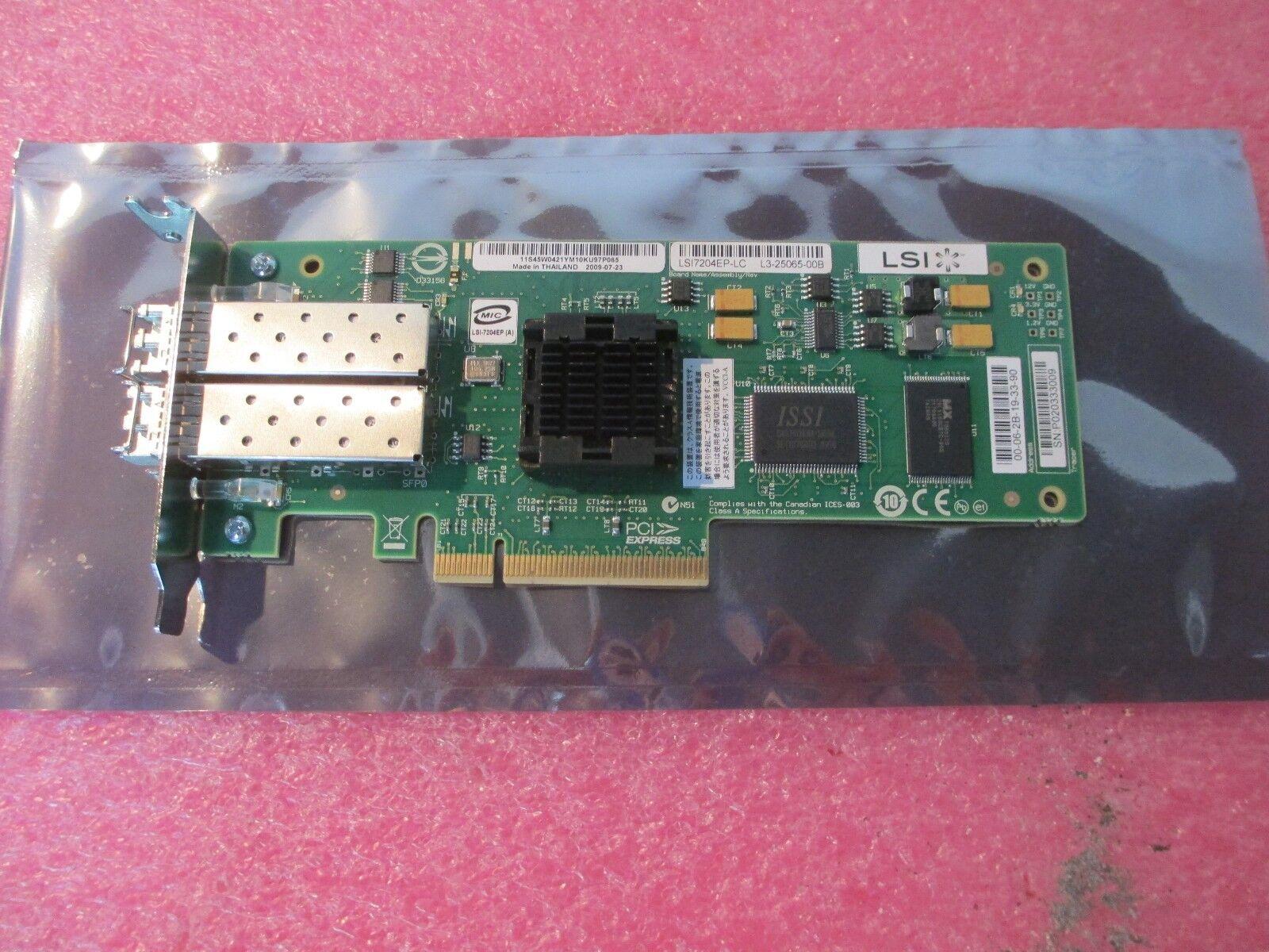 IBM 45W0421 LSI Logic LSI7204EP-LC 4GB Dual Port PCI-e HBA LP Bracket w/ 4G SFPs