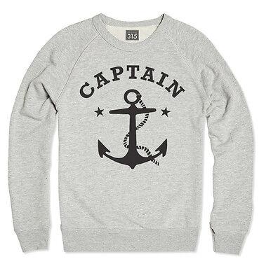 NAUTICAL 'CAPTAIN' T-SHIRT - Vintage Anchor, Hipster, Marine Swag, Tattoo