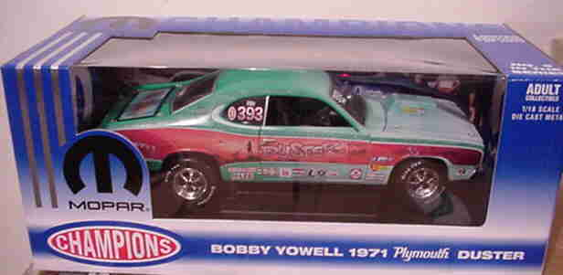 1971 Plymouth Duster Bobby Yowell 1 2004 1 18 Ertl American Muscle 29327