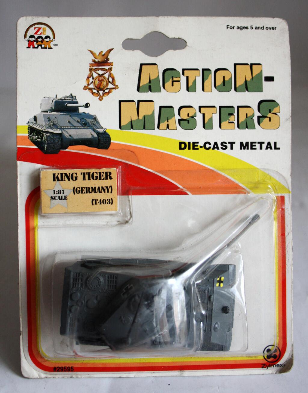 VINTAGE 1993 DIE CAST METAL 1 87 KING TIGER TANK GERMANY T403 ZYLMEX NEW SEALED