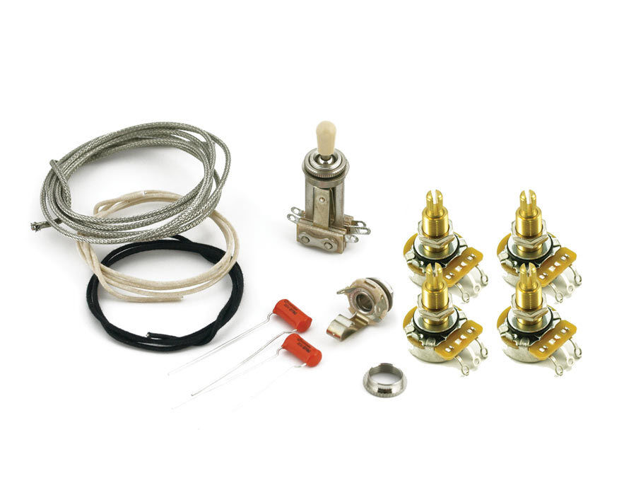LES PAUL® WIRING KIT LONG SHAFT POTS POTS POTS FOR CARVED TOPS CTS 550K SWITCHCRAFT 442887