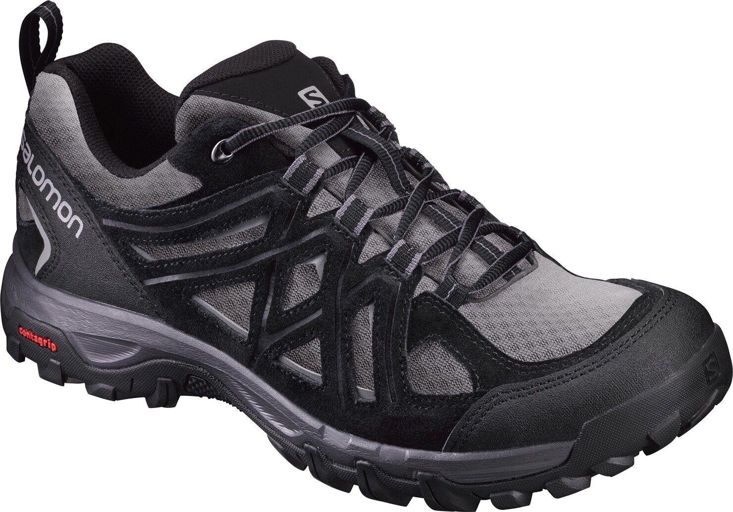 Salomon evasión 2 Aero para hombre Zapatos para Caminar-Negro   costo real