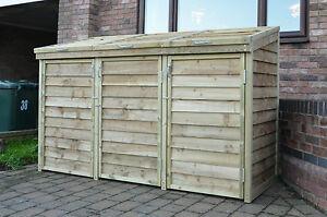 Triple Wheelie Bin Tidy Store Cover Shed Storage Unit & Wheelie Bin Storage Units - Listitdallas