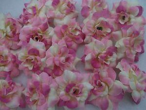 16 Rosen Rosenbluten Creme Rosa Pink 4 5 Cm Seidenblumen Deko