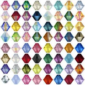 50-Swarovski-Crystal-5328-Xilion-Bicone-Beads-4mm-All-Colours