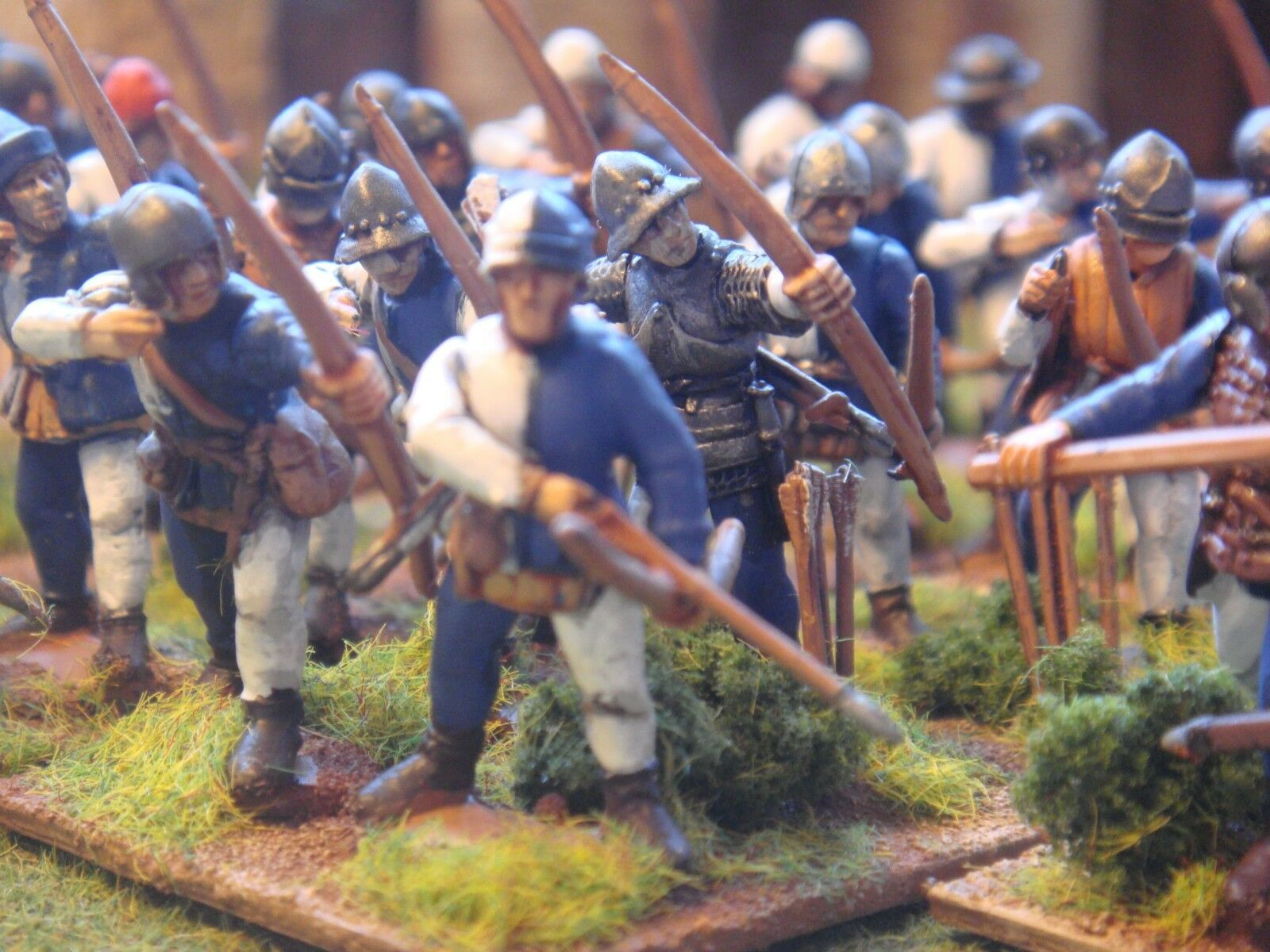 PERRY MINIATURES MEDIEVAL ARCHERS  PAINTED TO ORDER