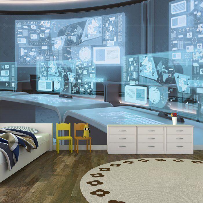 Raumstation Fototapete Büro Tapete Jungen Schlafzimmer Haus Dekor