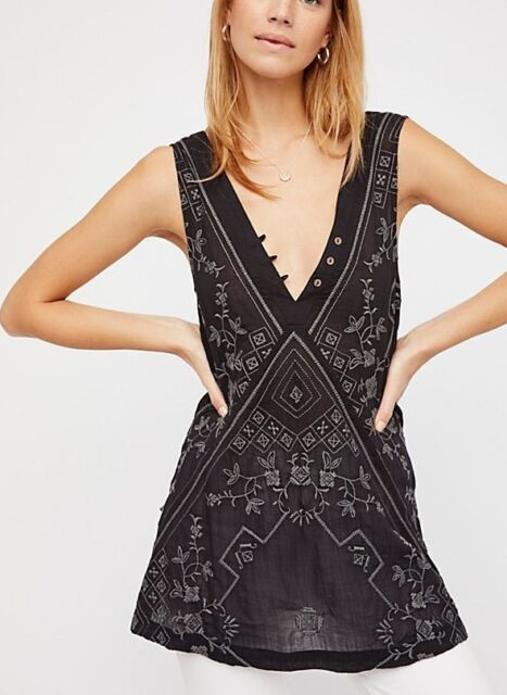 e4ce5f5c01c7 180170 New Intimately Free People Sweetest Shifty Slip Embroidered Mini  Dress XS
