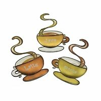 Coffee House Cup Metal Wall Art Home Decor Latte Mocha Java Kitchen Decor