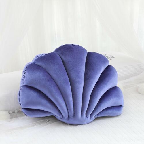 Velvet Sea Shell Shaped LUXURY Cushion Sofa Scatter Pillow Home Kids Decor NEW