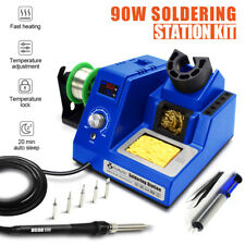 90w 110v Digital Rework Soldering Station Kit Led Display Auto Sleep Esd Safe Us