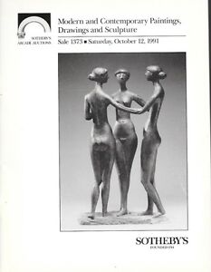 Sotheby-039-s-1373-Modern-Contemporary-Paintings-Sculpture-Auction-Catalog-1991