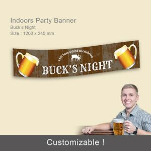 Details About Bucks Night Bachelor Party Pub Beer Personalised Gift Idea Banner Decorations