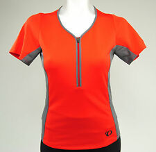 Pearl Izumi Women's Canyon Cycling Jersey, Poppy Red/Smoked Pearl, Size Large