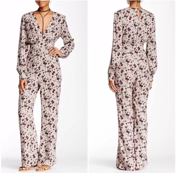 Free people  Some Like It Hot  Floral Jumpsuit - Size 0