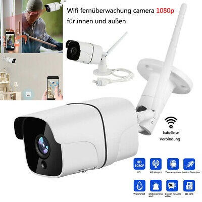 full hd bewegungsmelder 2mp ip wlan berwachungskamera kabellos ir nachtsicht ebay. Black Bedroom Furniture Sets. Home Design Ideas