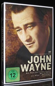 DVD JOHN WAYNE COLLECTION - HAUS DER SIEBEN SÜNDEN + EROBERER + JET PILOT * NEU*