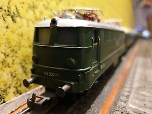 Top-Marklin-coleccion-h0-tren-bala-Lok-br-141-207-1-3-carro-como-nuevo