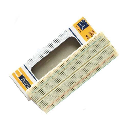 2pcs Solderless MB-102 MB102 Breadboard 830 Tie Point PCB BreadBoard For Arduino