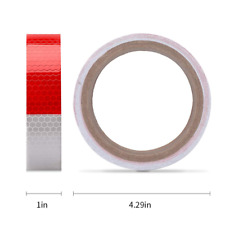 Starrey Reflective Tape Red White 1 In X 30 Ft Waterproof Self Adhesive Trailer
