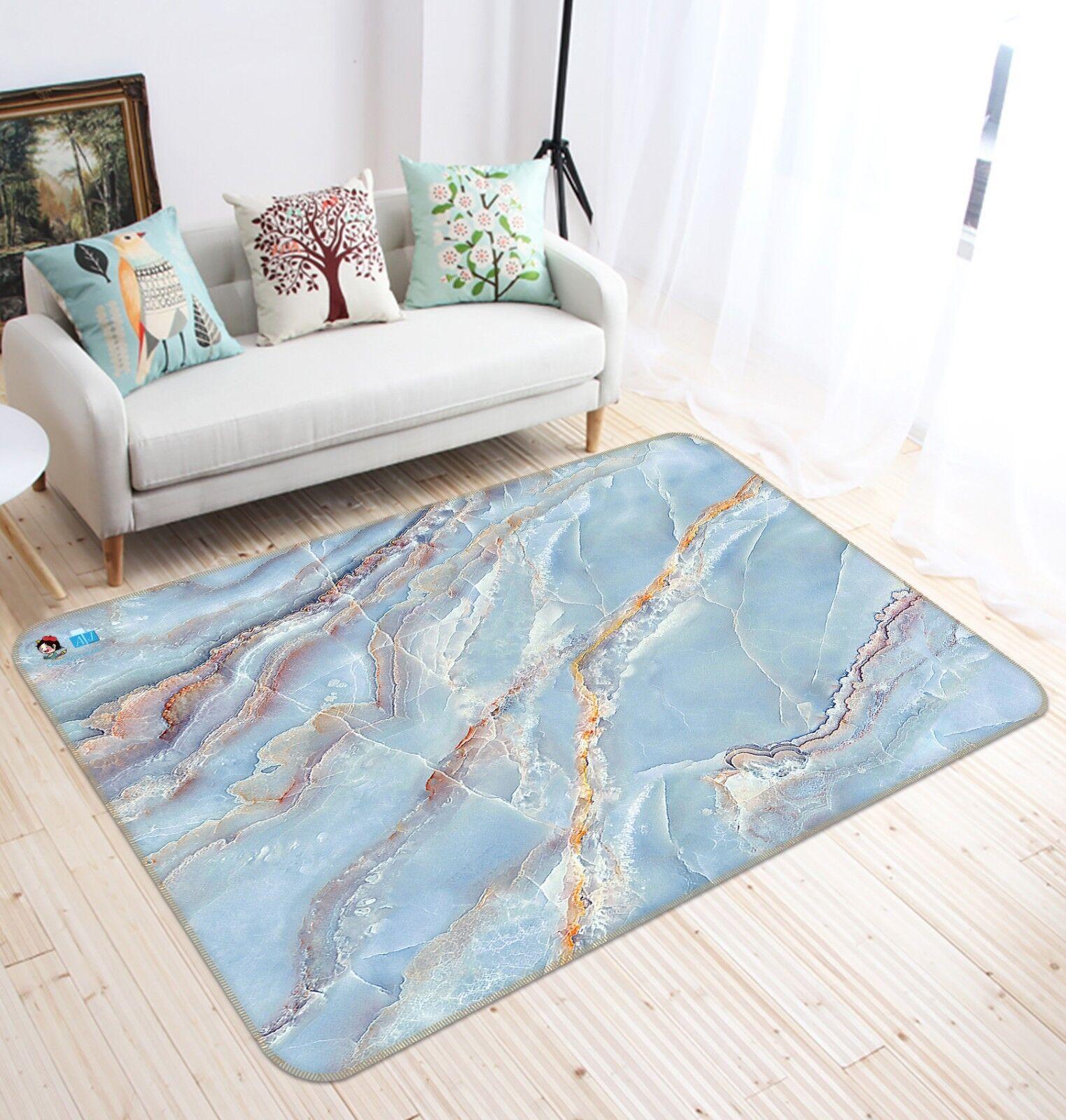 3D Blaue Felsen Textur 8 Rutschfest Teppich Matte Raum Matte Elegant Teppich DE