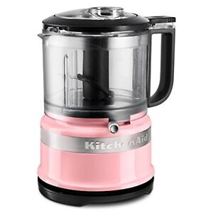 Details about New KitchenAid 3.5 Cup Mini Food Processor Chopper Pink  KFC3516AQ