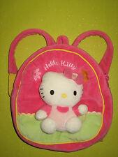 Peluche/Doudou Petit sac à dos HELLO KITTY - H:21 cm