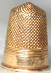 ANTIQUE-c-1900-18kt-Gold-tested-THIMBLE-from-EUROPEAN-Estate