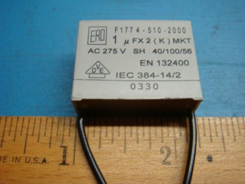 2 VISHAY ERO F1774-510-2000 1uF X2 275V MKT RADIAL SUPPRESSION CAPACITOR