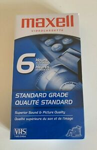 One (1) NEW Sealed Maxell VHS Blank Video Tape - T-120 - 6 Hours