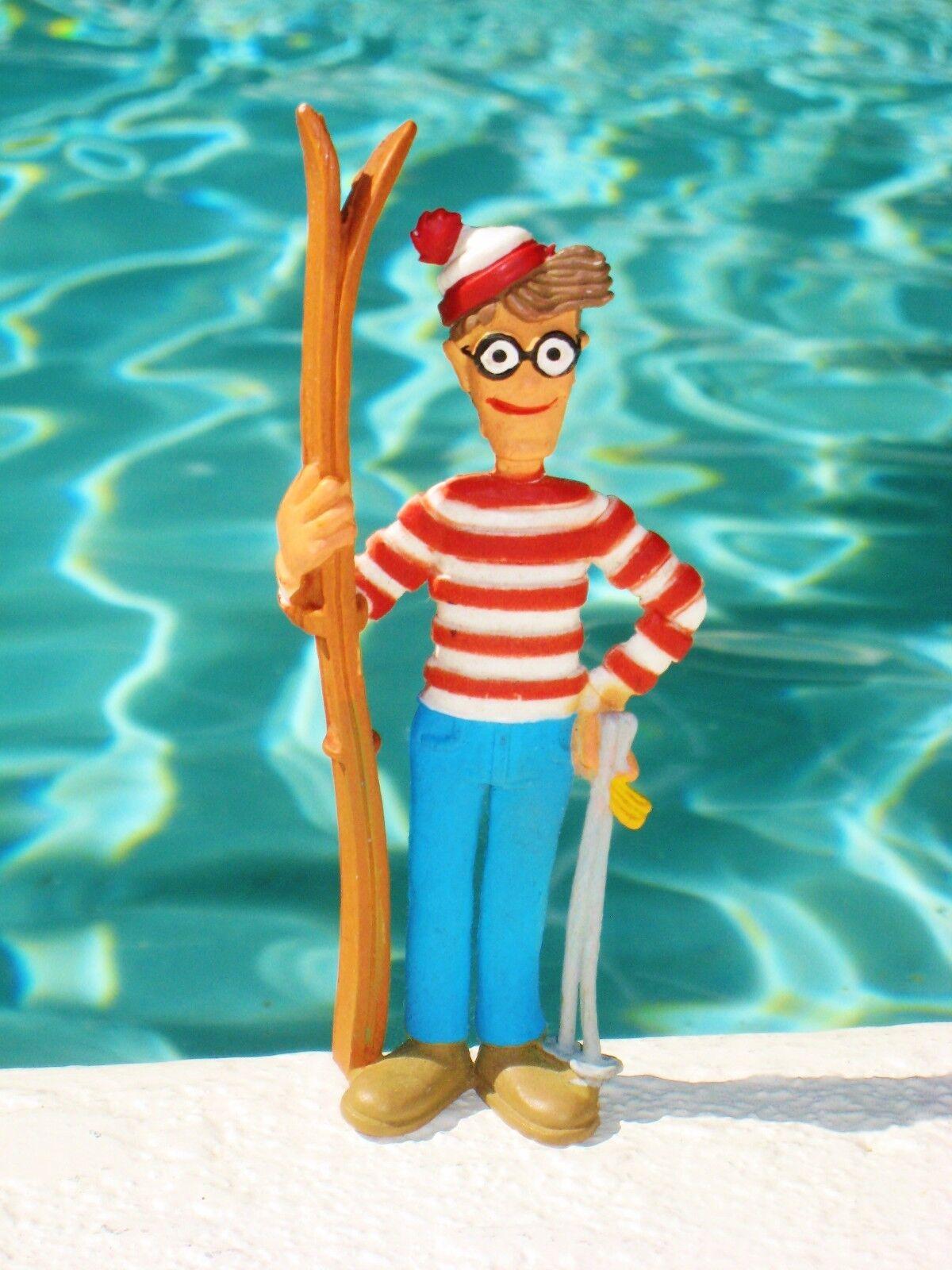 VINTAGE WHERE'S WALDO PVC FIGURE MARTIN HANDFORD W  SKIS 4'' toy figure - 1992