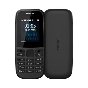 Brandneues Nokia 105 Dual SIM Schwarz Entsperrt alle Netze Handy