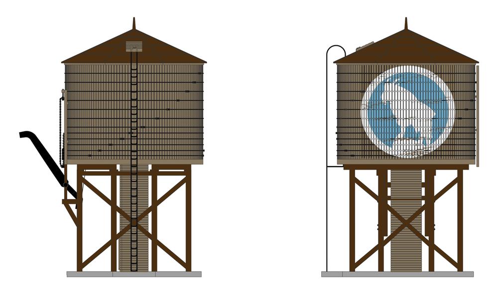 REDUCED!  Broadway Ltd 6098 GREAT NORTHERN Motorized Water Tower w/Sound NIB