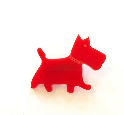 Pomeranian Dog Brooch Badge Pin Scarf Fastener Gift In Black