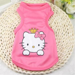 Dog-Clothes-Hello-Kitty-Pink-Dog-Shirt-Puppy-T-Shirt-Pink-SMALL-Dog-or-CAT-Shirt
