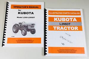 kubota l295dt tractor operators owners manual parts catalog set ebay rh ebay com L295DT Loader kubota l295 manual