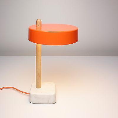 Designer Table / Desk Lamp - Modernist Retro Scandinavian Style - Orange