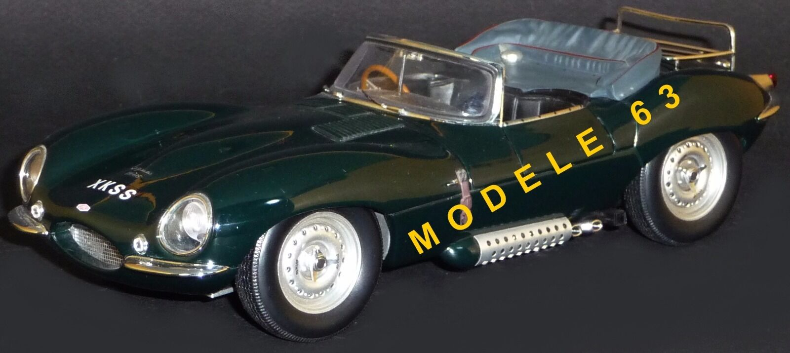 Jaguar xk ss year 1957 green color 1 18 73511 autoart