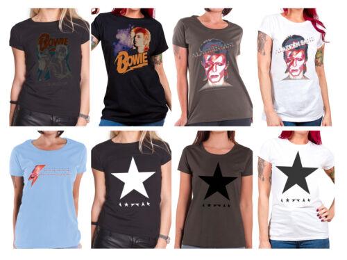 Official David Bowie T Shirt womens Blackstar Aladdin Sane new Skinny Fit