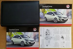 genuine vauxhall corsa d owners manual handbook wallet 2011 2014 rh ebay co uk vauxhall corsa owners manual 2009 vauxhall corsa owners manual 2010
